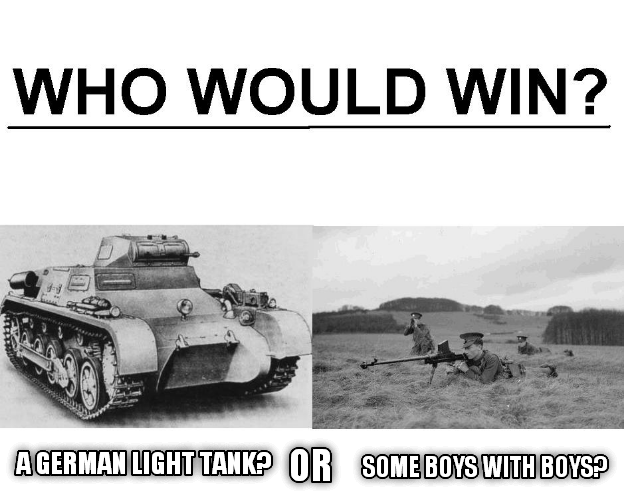 Motor vehicle - WHO WOULD WIN? AGERMAN LIGHT TANK? OR SOME BOYS WITH BOYS?