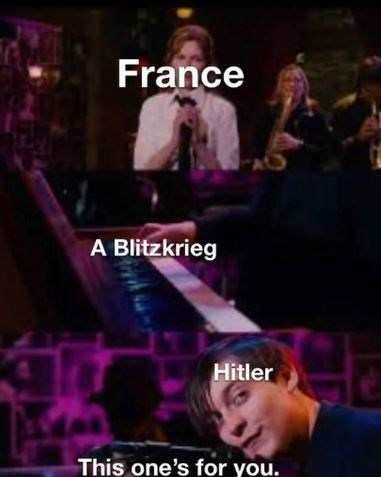 Music artist - France A Blitzkrieg Hitler This one's for you.