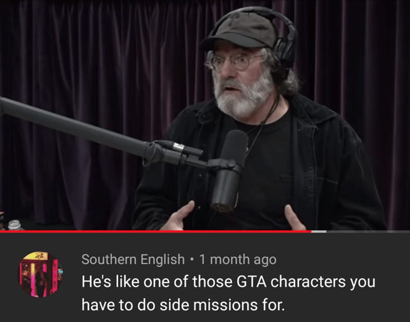 Gun - Southern English • 1 month ago He's like one of those GTA characters you have to do side missions for.