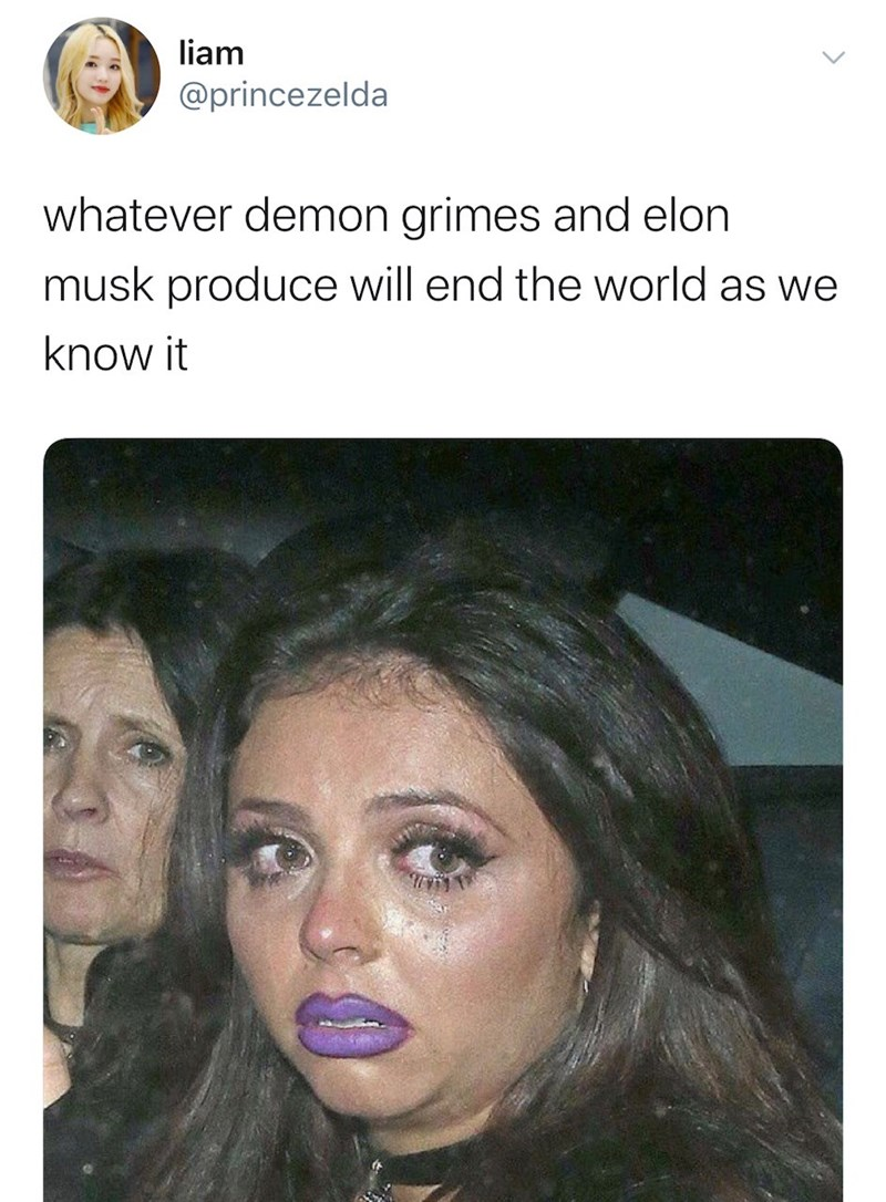 Face - liam @princezelda whatever demon grimes and elon musk produce will end the world as we know it