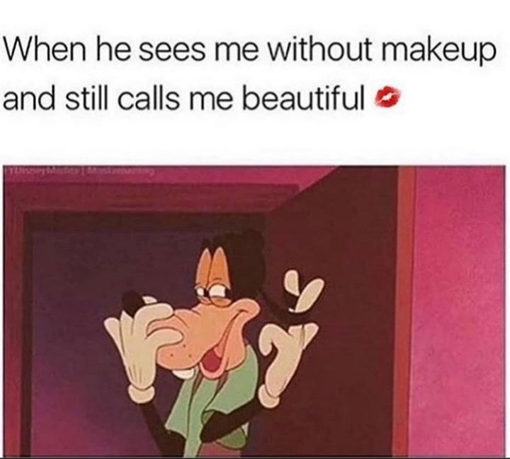 Cartoon - When he sees me without makeup and still calls me beautiful O 1MIT