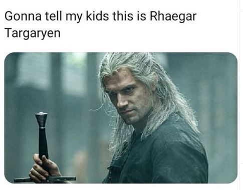Text - Gonna tell my kids this is Rhaegar Targaryen