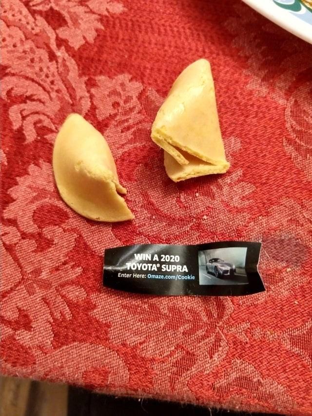 Fortune cookie - WIN A 2020 ΤΟΥΟTA SUPRA Enter Here: Omaze.com/Cookie