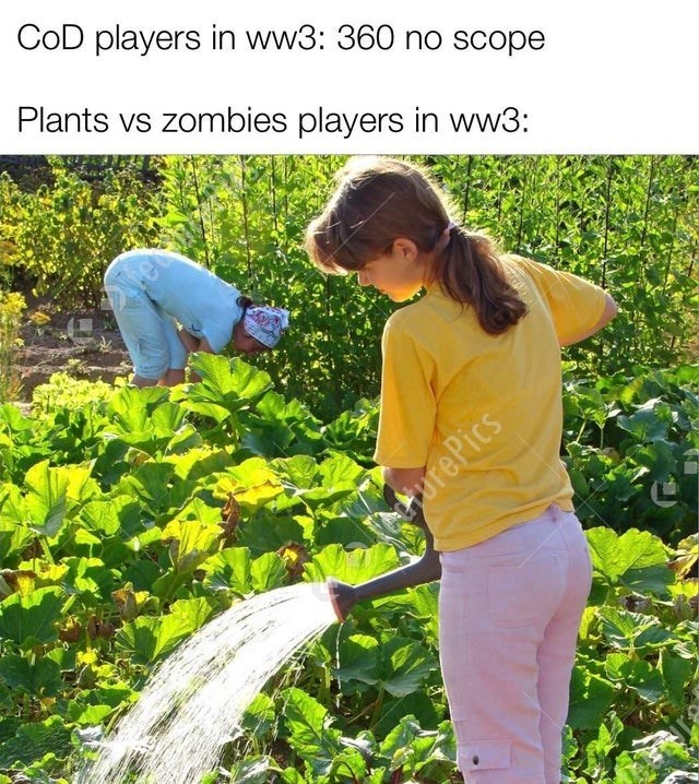 People in nature - COD players in ww3: 360 no scope Plants vs zombies players in ww3: AhurePics