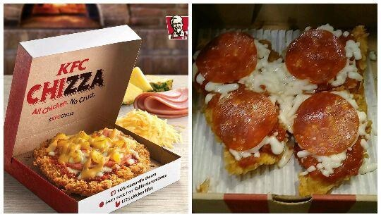 Dish - KFC CHIZZA All Chicken A crust ececie srdertter