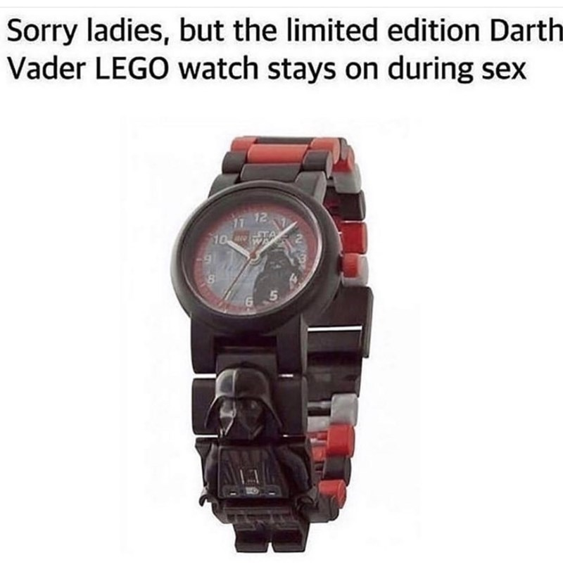 Watch - Sorry ladies, but the limited edition Darth Vader LEGO watch stays on during sex 17 12