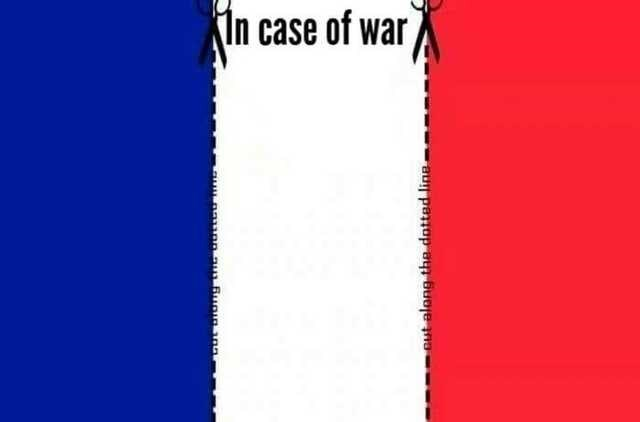 Blue - In case of war cut along the dotted line