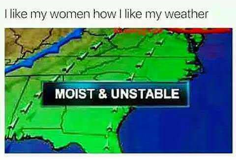 Line - I like my women how I like my weather MOIST & UNSTABLE