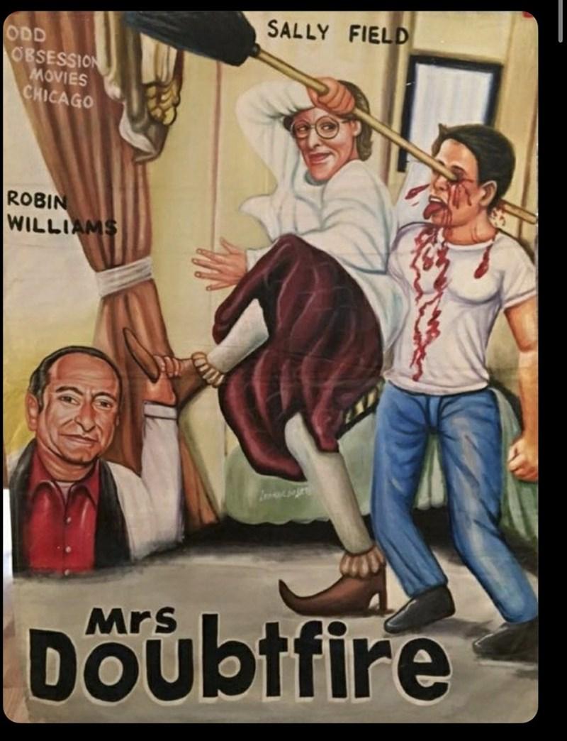 Poster - SALLY FIELD ODD OBSESSION MOVIES CHICAGO ROBIN WILLIAMS Mrs Doübtfire