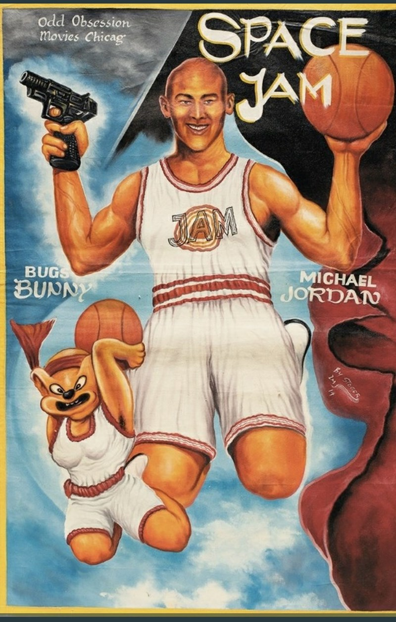 Basketball player - SPACE JAM Odd Obsession movies Chicag JAM MICHAEL JORDAN BUGS BUNNY By STOGER 2M