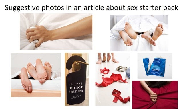 Skin - Suggestive photos in an article about sex starter pack PLEASE DO NOT DISTURB