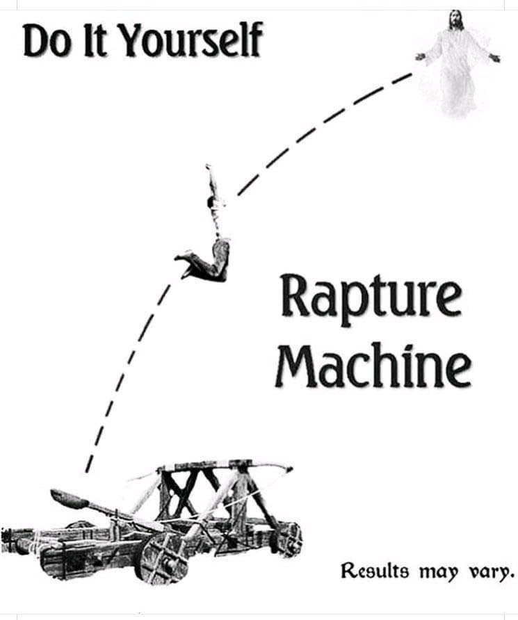 Motor vehicle - Do It Yourself Rapture Machine Results may vary.