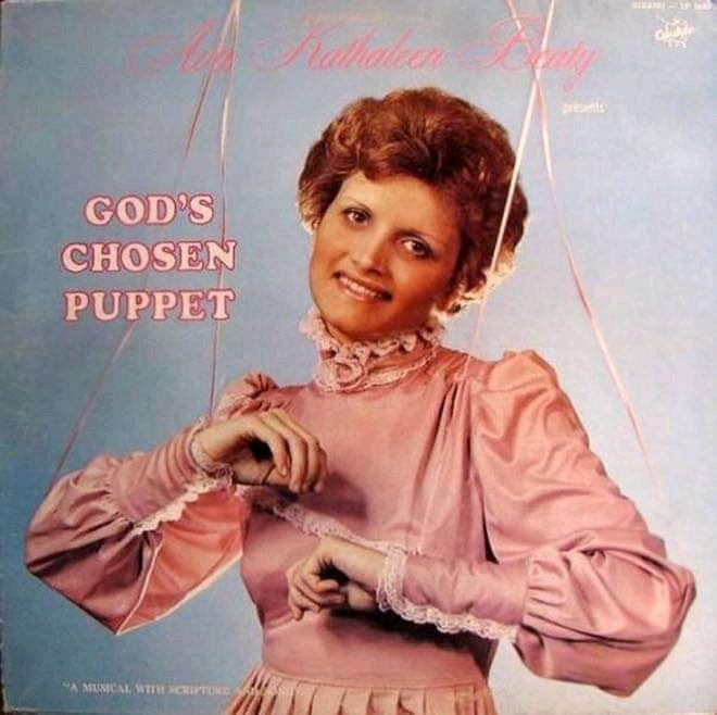 """Album cover - Ratholean prts GOD'S CHOSEN PUPPET """"A MUMCAL WTTE SCIPTUNE"""