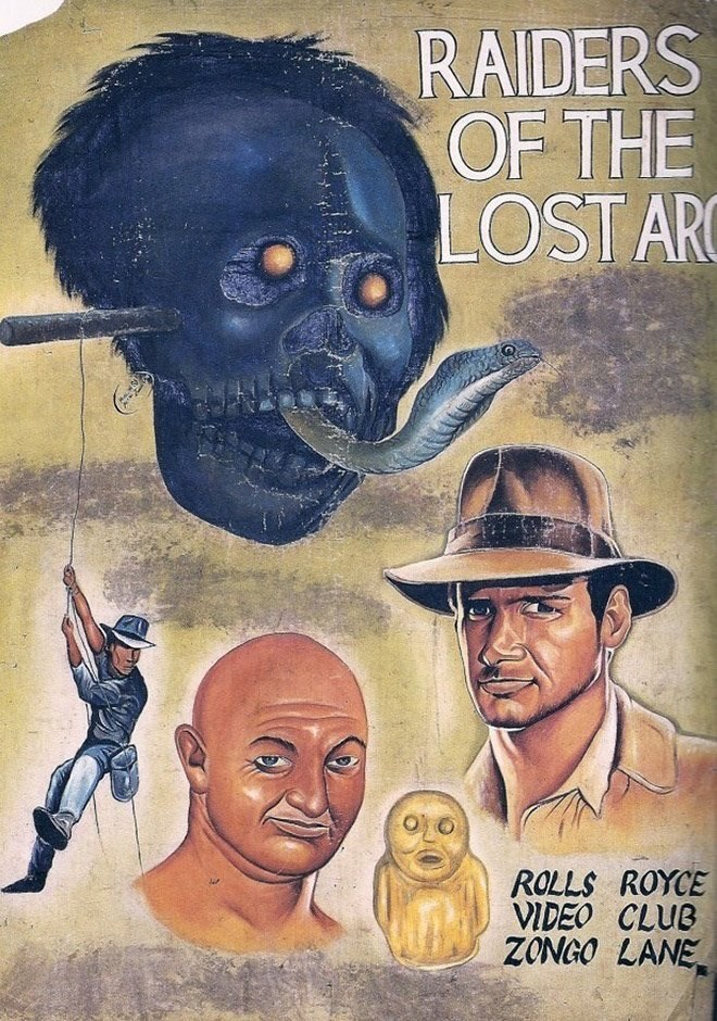 Poster - RAIDERS OF THE LOST ARC ROLLS ROYCE VIDEO CLUB ZONGO LANE