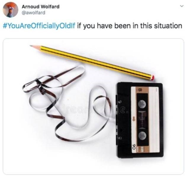 Product - Arnoud Wolfard @awolfard #YouAreOfficiallyOldlf if you have been in this situation B 90
