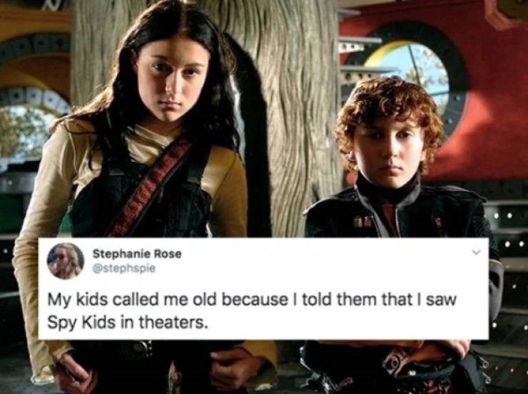 Movie - Stephanie Rose @stephspie My kids called me old because I told them that I saw Spy Kids in theaters.