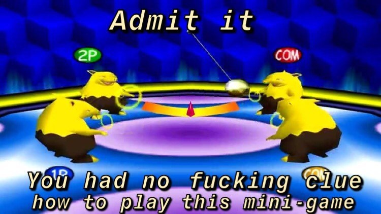Cartoon - Admit it 2P COM You had no fucking Clue how to play this mini -game