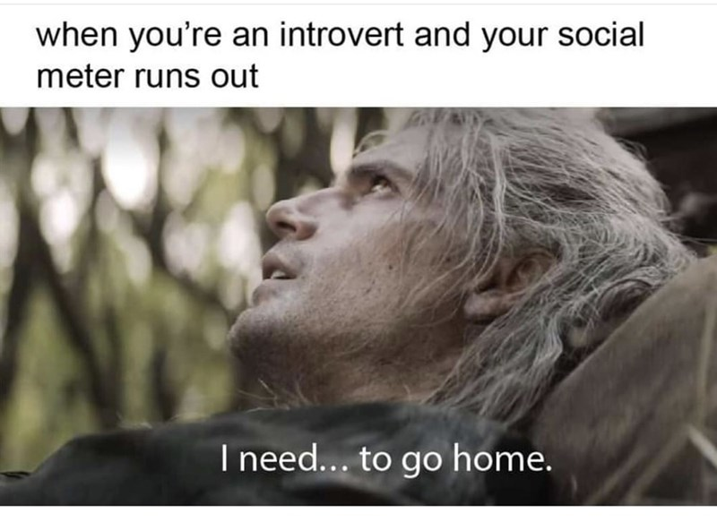 Text - when you're an introvert and your social meter runs out I need... to go home.