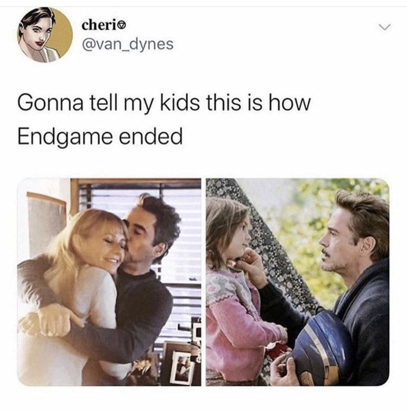 Text - cherio @van_dynes Gonna tell my kids this is how Endgame ended