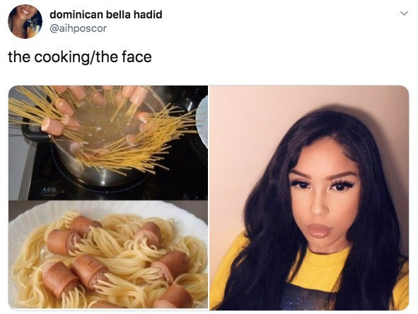 Hair - dominican bella hadid @aihposcor the cooking/the face