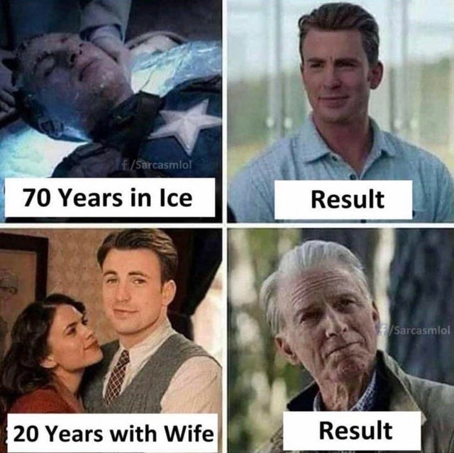 Facial expression - f/Sarcasmlol 70 Years in lIce Result Sarcasmlol Result 20 Years with Wife