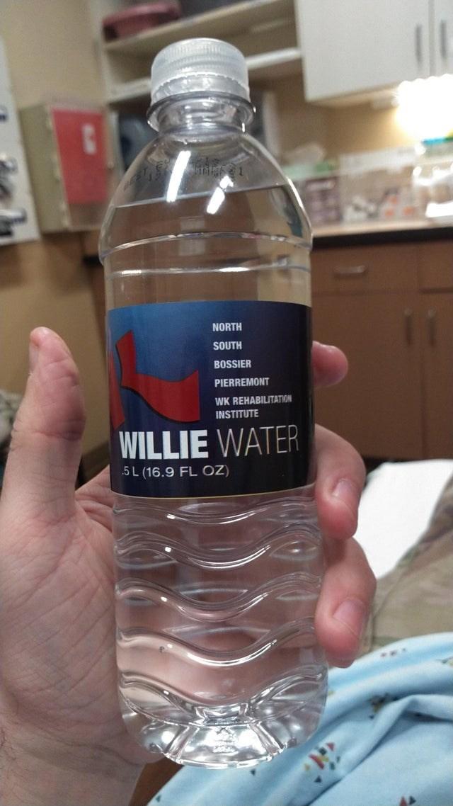 Bottle - NORTH SOUTH BOSSIER PIERREMONT WK REHABILITATION INSTITUTE WILLIE WATER .5L (16.9 FL OZ)