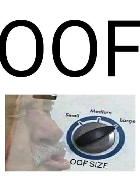 Font - 0OF Medium Small Large OOF SIZE