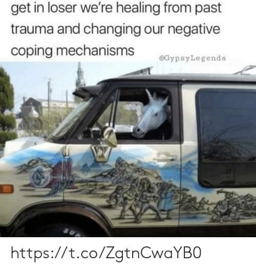 Motor vehicle - get in loser we're healing from past trauma and changing our negative coping mechanisms @GypsyLegends https://t.co/ZgtnCwaYBO