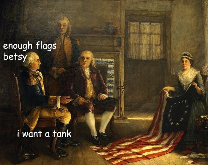 Painting - enough flags betsy i want a tank FREE