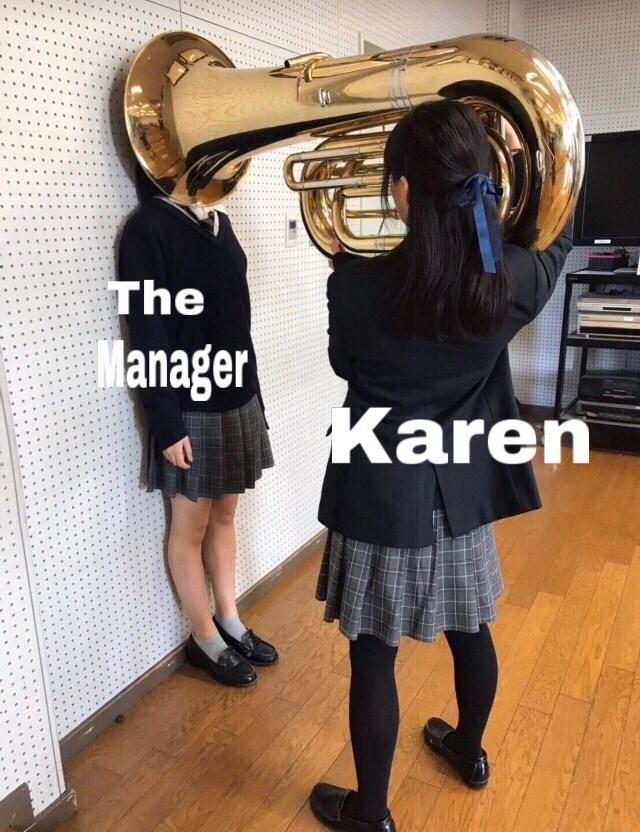 Brass instrument - The Manager Karen