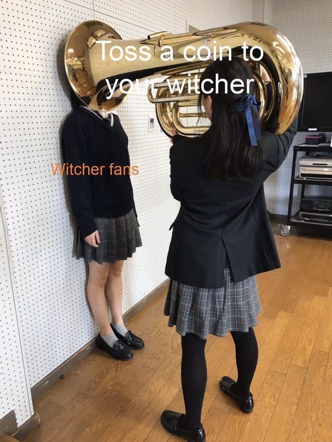 Brass instrument - Toss a coin to yowitcher Vitcher fans