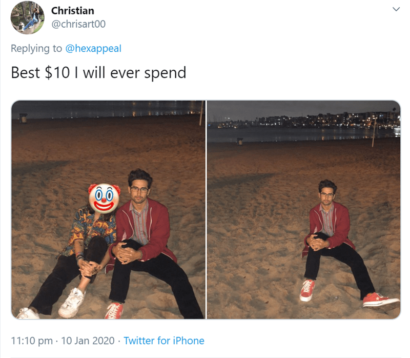Text - Christian @chrisart00 Replying to @hexappeal Best $10 I will ever spend 11:10 pm · 10 Jan 2020 · Twitter for iPhone