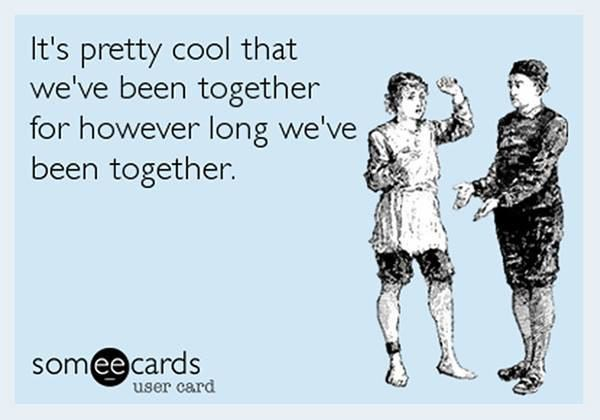 Text - It's pretty cool that we've been together for however long we've been together. somee cards user card