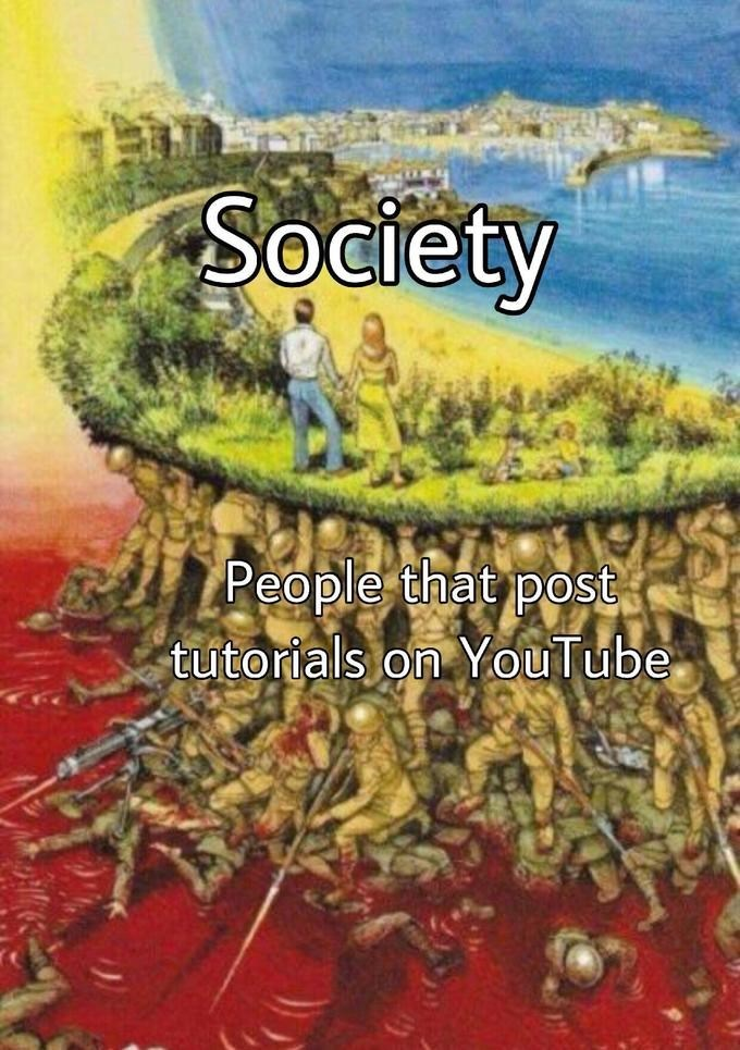 Plant - Society People that post tutorials on YouTube