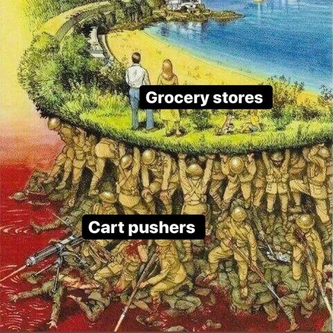 Tree - Grocery stores Cart pushers