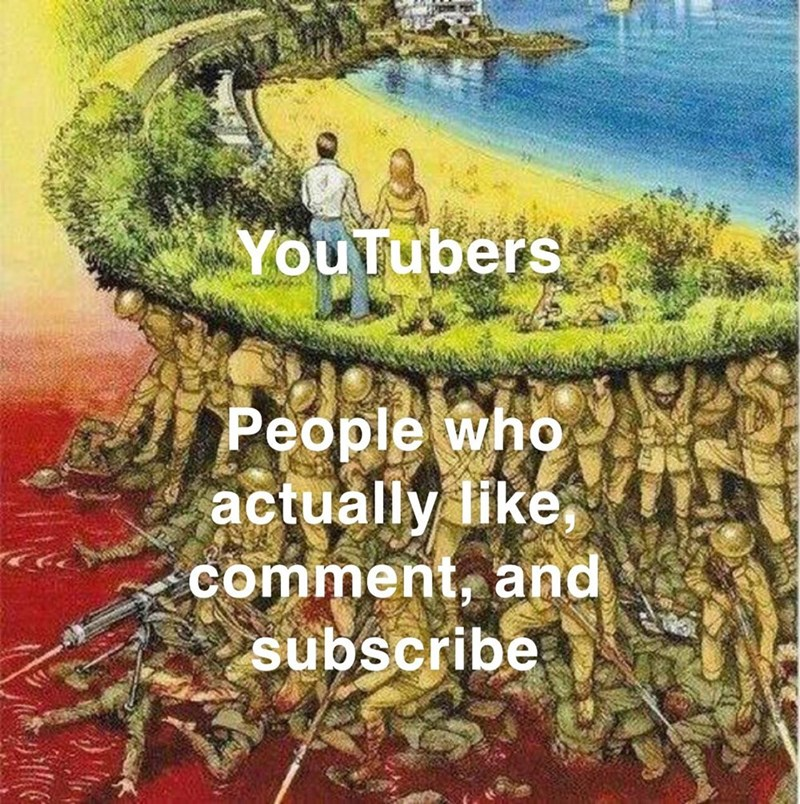 Text - YouTubers People who actually like comment, and subscribe