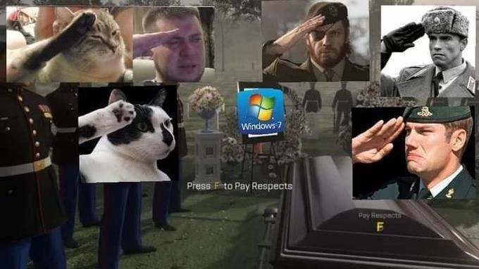 Movie - Windows 7 Press F to Pay Respects Pay Respecta