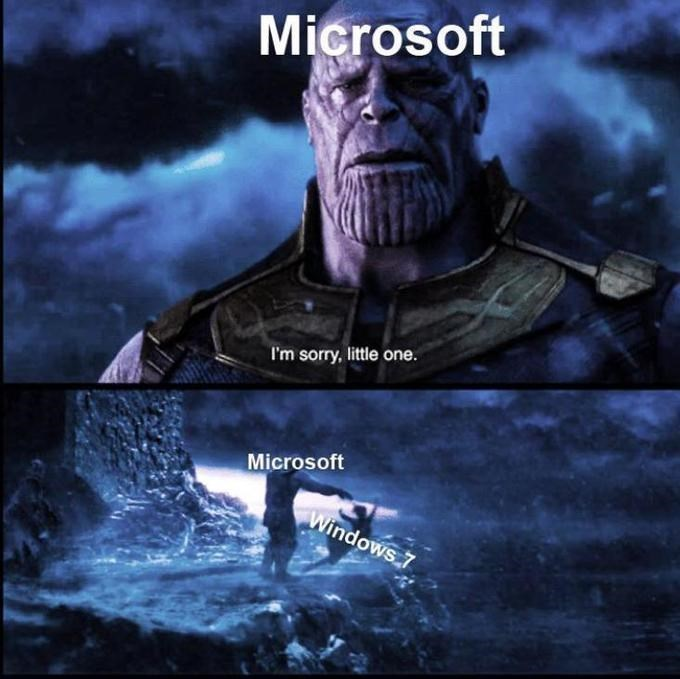 Movie - Microsoft I'm sorry, little one. Microsoft Windows 7