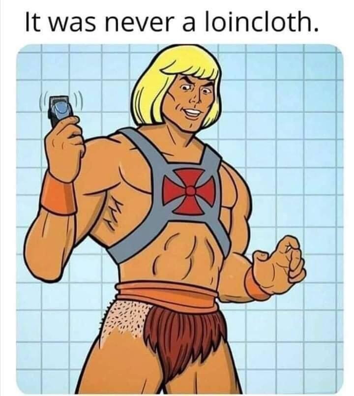 Cartoon - It was never a loincloth.