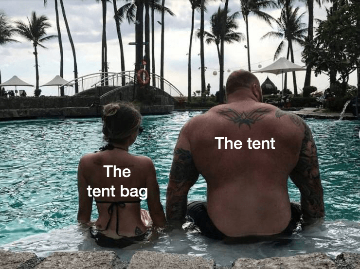 Barechested - The tent The tent bag