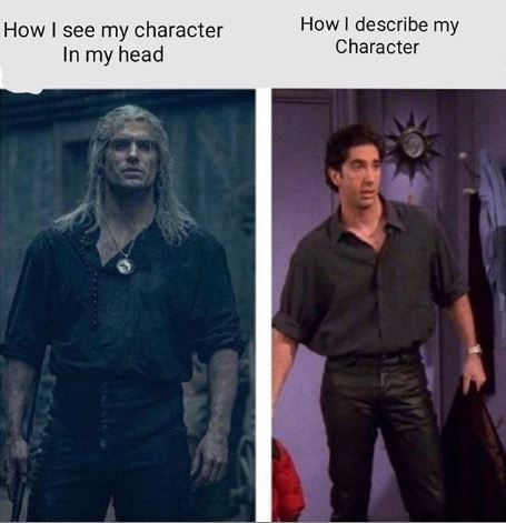Human - How I describe my How I see my character In my head Character