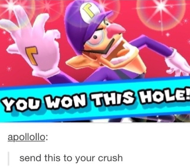 Cartoon - YOU WON THIS HOLE! apollollo: send this to your crush