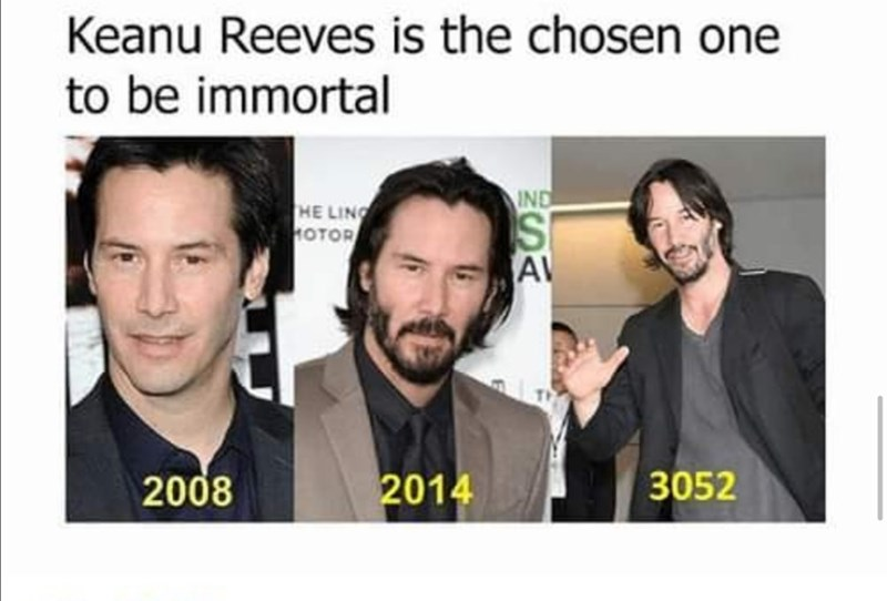 Facial expression - Keanu Reeves is the chosen one to be immortal IND HE LING OTOR AV 2008 2014 3052