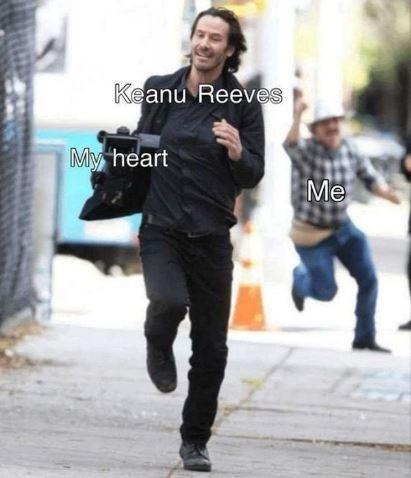 Street fashion - Keanu Reeves My heart Me