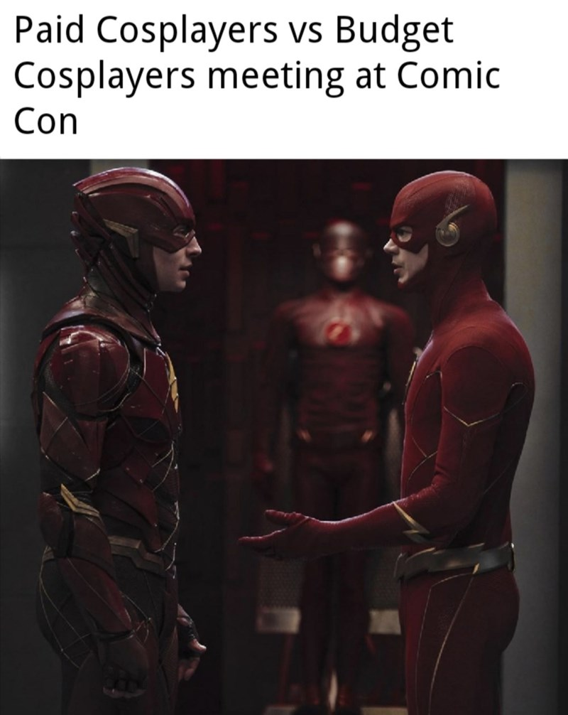 Superhero - Paid Cosplayers vs Budget Cosplayers meeting at Comic Con VS