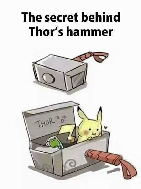Cartoon - The secret behind Thor's hammer THOR