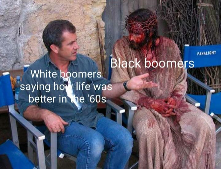 Fur - PANALIGHT Black boomers White boomers saying ho life was better in he '60s