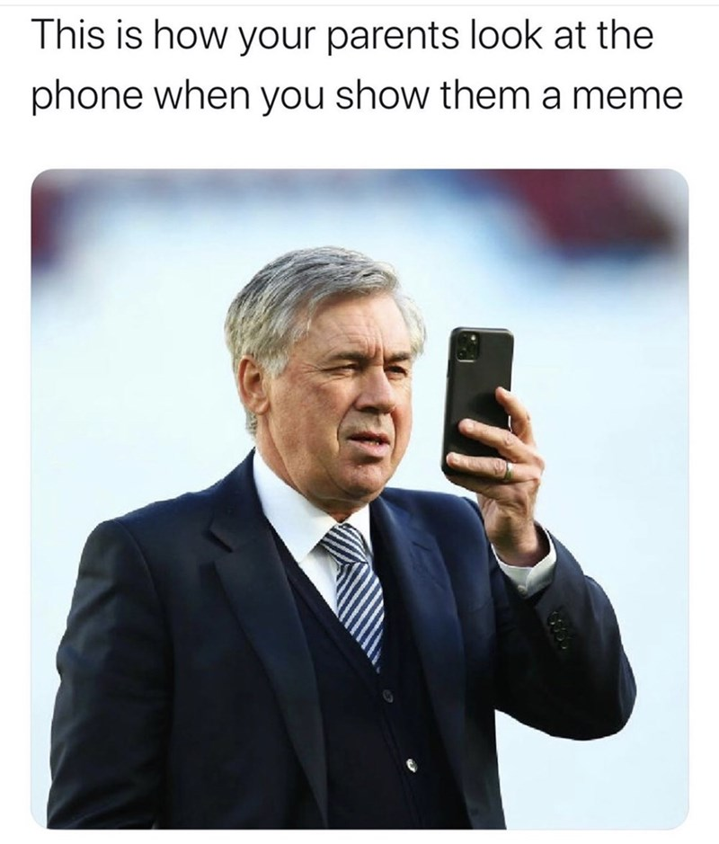 Text - This is how your parents look at the phone when you show them a meme