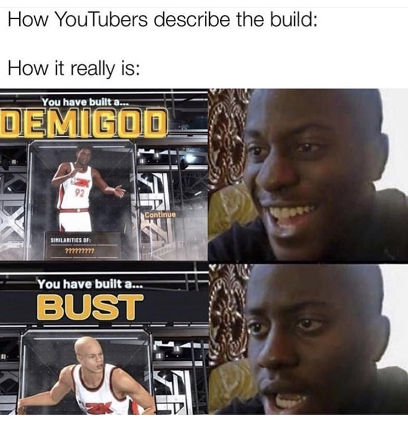 Muscle - How YouTubers describe the build: How it really is: You have built a.. DEMIGOO 92 Continue SIMILARITIES OF: 7?22777 You have built a... BUST