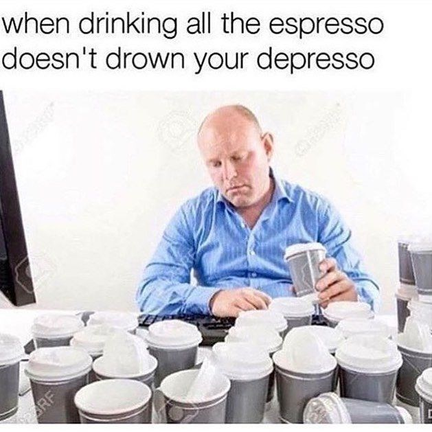 Dairy - when drinking all the espresso doesn't drown your depresso ARF